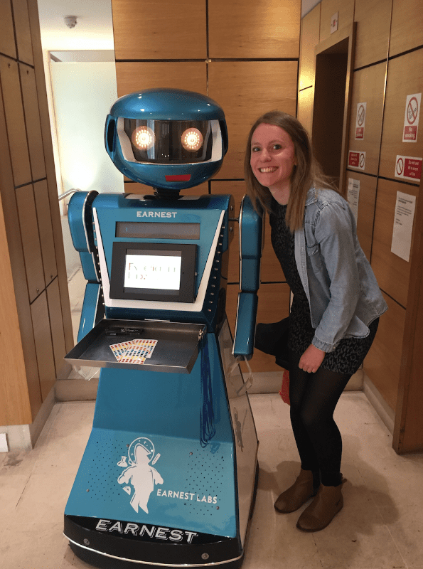 Oscar The Robot - personalised for Earnest Labs