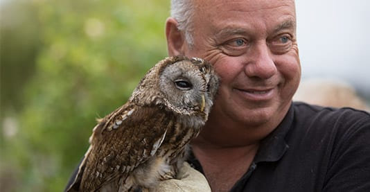 Paul Rose, owner of the Owl Sanctuary, Barrow