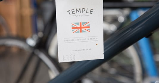 Temple Cycles - designed and built in Britain