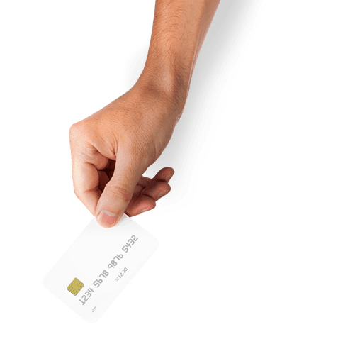 Tap for change: Hand and card